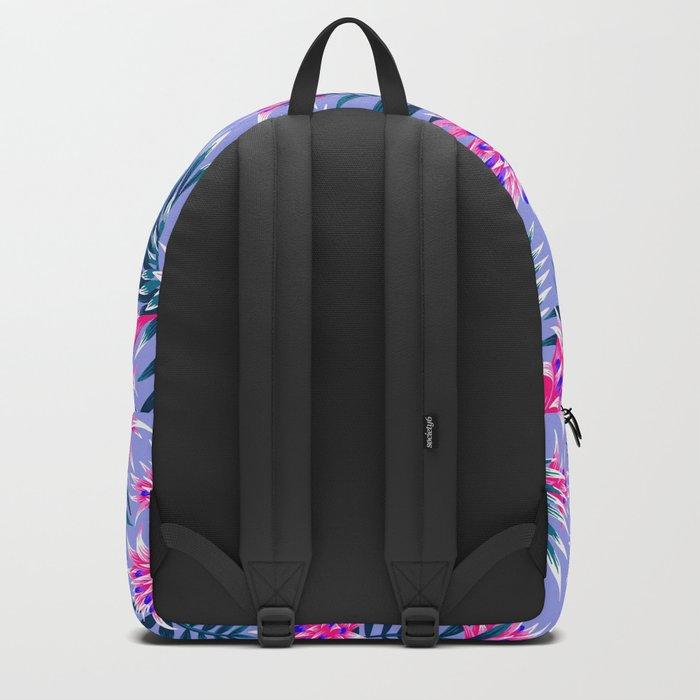 Aechmea Fasciata - Light Blue / Pink Backpack