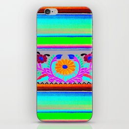 Serape and Flowers iPhone Skin