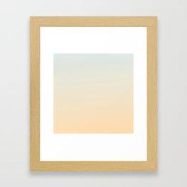 OVER THE EDGE - Minimal Plain Soft Mood Color Blend Prints Framed Art Print
