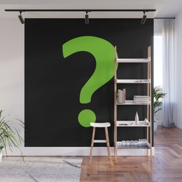 Enigma - green question mark Wall Mural