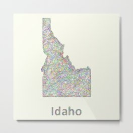 Idaho map Metal Print