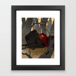 The Big Bad Wolf Framed Art Print
