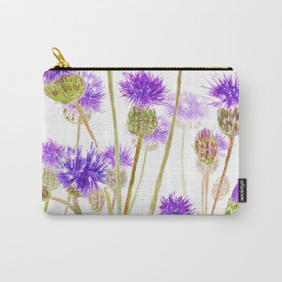 purple thorny wildflower Carry-All Pouch