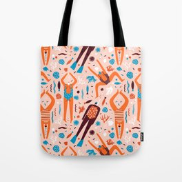 Swimmers in pink Tote Bag