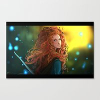 merida Canvas Prints featuring MERIDA by corverez