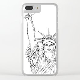 Freedom of Expression Clear iPhone Case