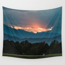 Last rays of sun before sunset Wall Tapestry