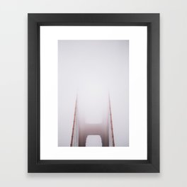 Foggy Gate Bridge Framed Art Print