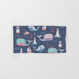 Whale Toss Hand & Bath Towel