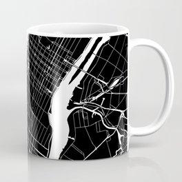 New York City Black On White Coffee Mug