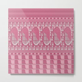 Rose Pink Geometric Abstract Metal Print