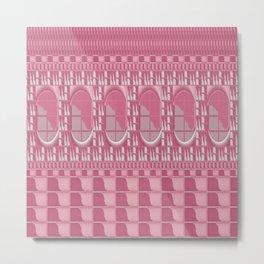 Rose Pink Geometric Abstract Metal Print