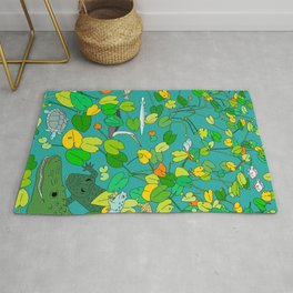 Everglades Plants and Animals Rug