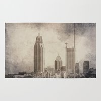 alabama Area & Throw Rugs featuring Mobile, Alabama by Judith Lee Folde Photography & Art