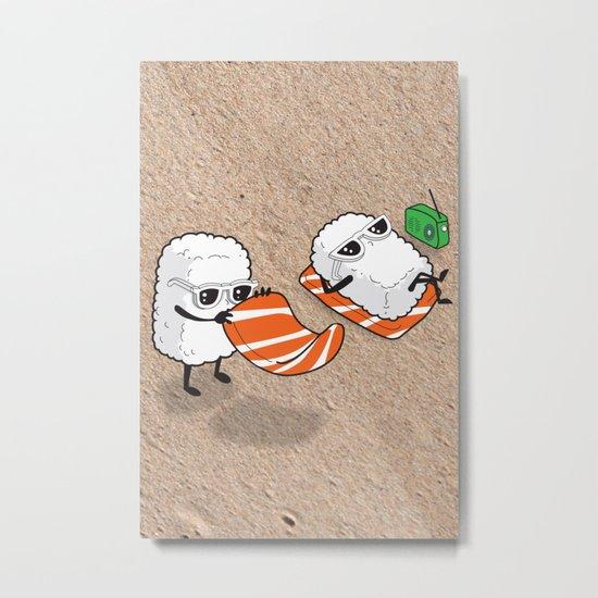 Sushi-sun Metal Print