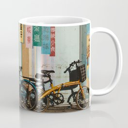Bicycle Shadows Coffee Mug