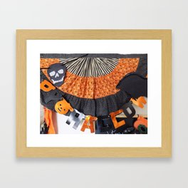 Halloween Swag Framed Art Print