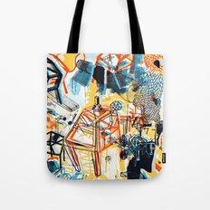 yellowredblueandblack Tote Bag