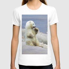 Cute Polar Bear Cub & Arctic Ice T-shirt