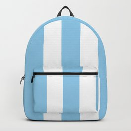 Cornflower heavenly - solid color - white vertical lines pattern Backpack