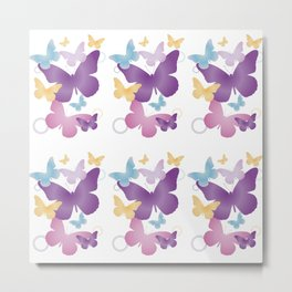 Motif papillons Metal Print