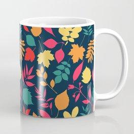 Colorful Autumn Leaves Pattern Coffee Mug