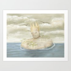 Island King Art Print