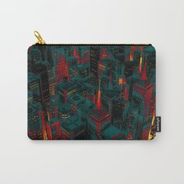 Night city glow cartoon Carry-All Pouch
