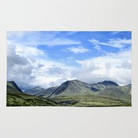 norway Area & Throw Rugs featuring Rondane - Norway by AstridJN