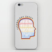 technology iPhone & iPod Skins featuring Technology Savvy by Adil Siddiqui