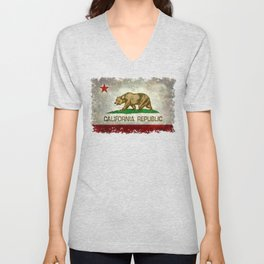 California Republic state flag Vintage Unisex V-Neck