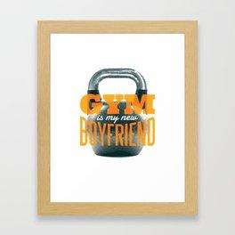 Gym Kettlebell Fitness graphic, Trending Workout Humor Design design Framed Art Print