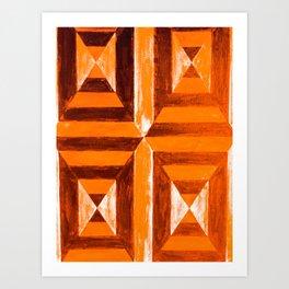 Orange Geometric Art Print