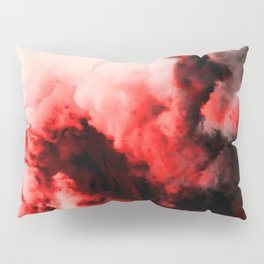 In Pain - Red And Black Abstract Pillow Sham
