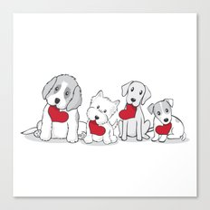 Valentine's Day Dogs Canvas Print