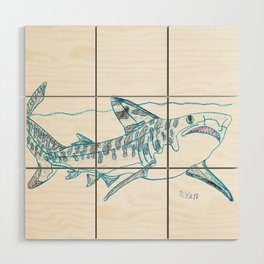 Tiger Shark II Wood Wall Art