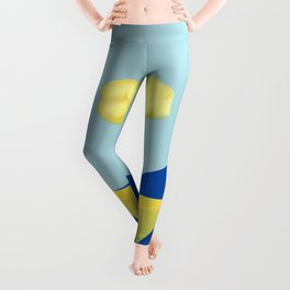 The yellow cloud over the yellow ship Leggings