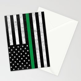 Thin Green Line Stationery Cards