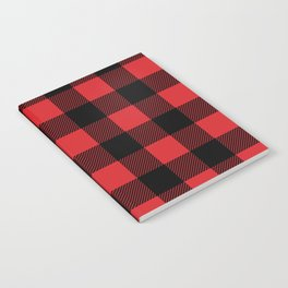Red and Black Buffalo Plaid Notebook