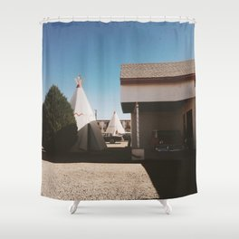 The Wigwam Motel Shower Curtain