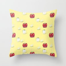 Toffee Apples Pattern Throw Pillow