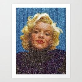 In the Blue Room Portrait by Jeanpaul Ferro Art Print