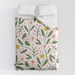 Deconstructed Floral | Spring Colors Comforters