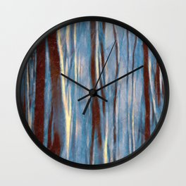 Dawn in the Winter Forest #impressionism #abstract #moods #society6 Wall Clock