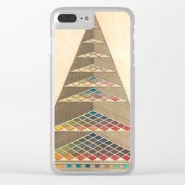 Vintage Color Pyramid by Johann Heinrich Lambert, 1772 Clear iPhone Case