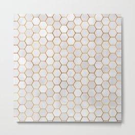 Geometric Hexagonal Pattern Metal Print