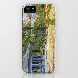Cottage on the Rocks iPhone Case