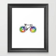 Geometric Bicycle Framed Art Print