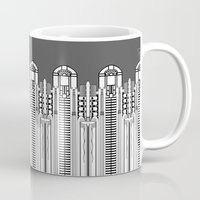 art deco Mugs featuring Art deco by Textile Candy