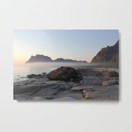 A Magical Sunset on Utakleiv, Norway Metal Print